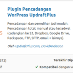 Updraft Plus Plugin Backup WordPress terbaik
